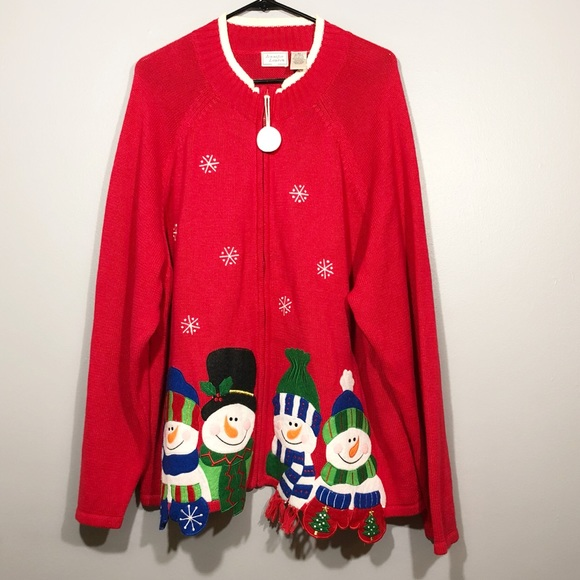 3x Ugly Christmas Sweater.Jennifer Lauren Plus 3x Ugly Christmas Sweater